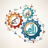 Oil and gas industry infographics Royalty Free Stock Images