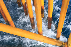 Oil and Gas Surface Casing at Offshore Platform Royalty Free Stock Photo