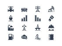 Oil industry icons Royalty Free Stock Photography