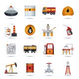 Oil Industry Icons Royalty Free Stock Images