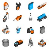 Oil Industry Isometric Icons Stock Photography