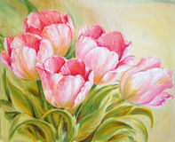 Oil Painting tulips Royalty Free Stock Photo