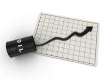 Oil price graph Stock Photos