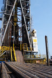 Oil rig and casing on the cantilever deck Stock Photo