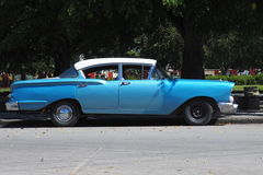 Old American Cars In Cuba Royalty Free Stock Photos