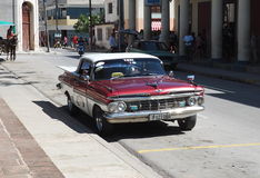 Old American Cars In Cuba Royalty Free Stock Images