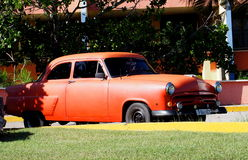 Old American Cars In Cuba Royalty Free Stock Photography