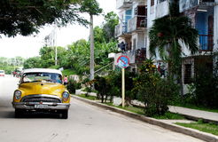 Old American Cars In Cuba Stock Photography