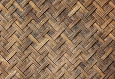 Old bamboo craft texture Royalty Free Stock Images