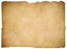 Old blank parchment or paper isolated. Clipping Royalty Free Stock Image