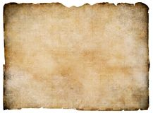 Old blank parchment treasure map isolated Royalty Free Stock Photo