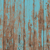 Old blue realistic plank wood texture background Stock Photography