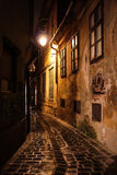 Old buildings at night Stock Photo