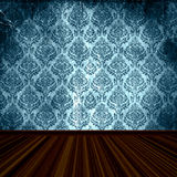 Old Damask Wallpaper Room Stock Photography