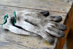 Old dirty gloves Stock Image