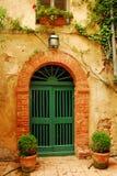 Old Door in Tuscany Stock Photo