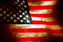 Old glory flag in stone Stock Photography