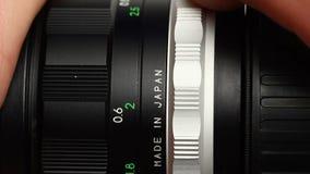 Old Japan lens video stock video footage