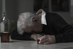 Old man alcoholic Stock Photos