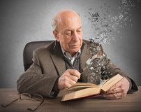 Old man knowledge and culture Royalty Free Stock Image
