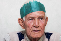 Old man partying Stock Photos