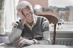 Old man sleeping Royalty Free Stock Photo