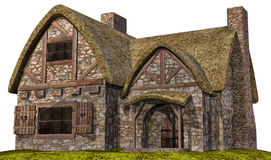 Old medieval cottage Stock Photo