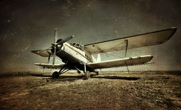 Old military plane Royalty Free Stock Photography