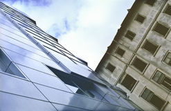 Old and new office buildings Royalty Free Stock Photo