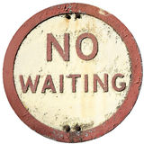 Old No Waiting Sign Stock Photography