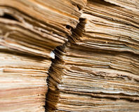 Old paper documents in the archive Stock Photography