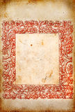 Old paper with red frame Royalty Free Stock Photos