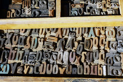 Old Printing Press Letters, Greek Alphabet Stock Images