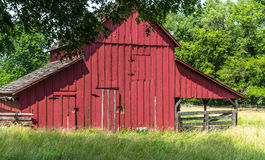 Old Red Barn on an Amish farm Stock Image