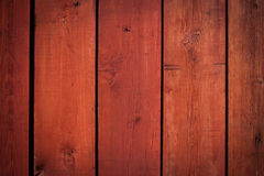 Old red wooden planks (for background) Stock Images