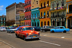 Old  retro car in Havana,Cuba Royalty Free Stock Image