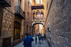 Old town of Barcelona, Spain Royalty Free Stock Photo