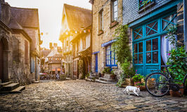 Old town in Europe at sunset with retro vintage filter effect Royalty Free Stock Photography