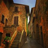 Old town in Tuscany Royalty Free Stock Photo