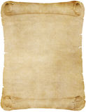 Old vintage paper or parchment scroll Stock Images
