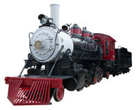 Old Vintage Steam Locomotive Train Isolated, White Stock Images