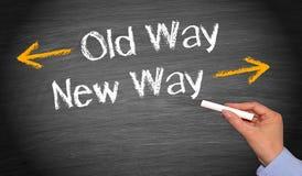 Old way, new way Stock Image