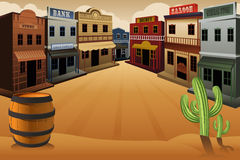 Old western town Stock Photography