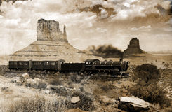Old western train Royalty Free Stock Photo