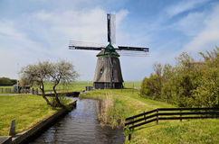 Old wind mill in Holland Royalty Free Stock Image