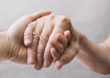 Old and young hand Royalty Free Stock Photos