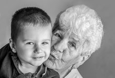 Old and young Stock Image