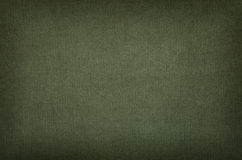 Olive cotton texture with vignette Stock Photography
