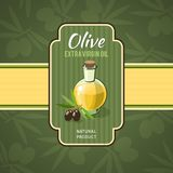 Olive Oil Badge Royalty Free Stock Photo