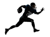 American football player man running  silhouette Stock Photos